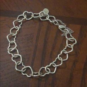 Heart link charm bracelet limited edition
